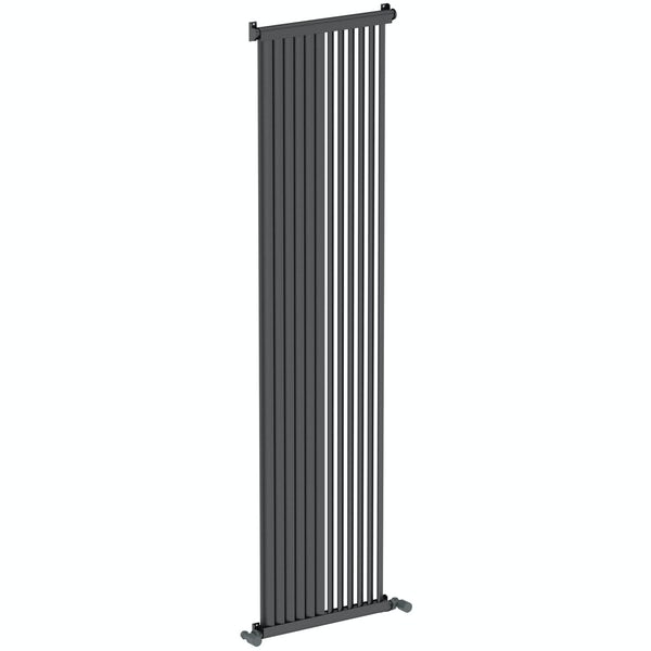 Mode Zephyra anthracite grey vertical radiator 1800 x 468