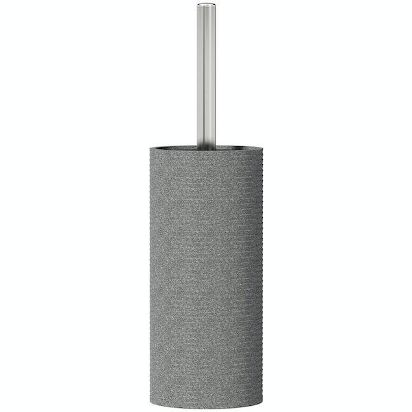 Accents grey toilet brush holder