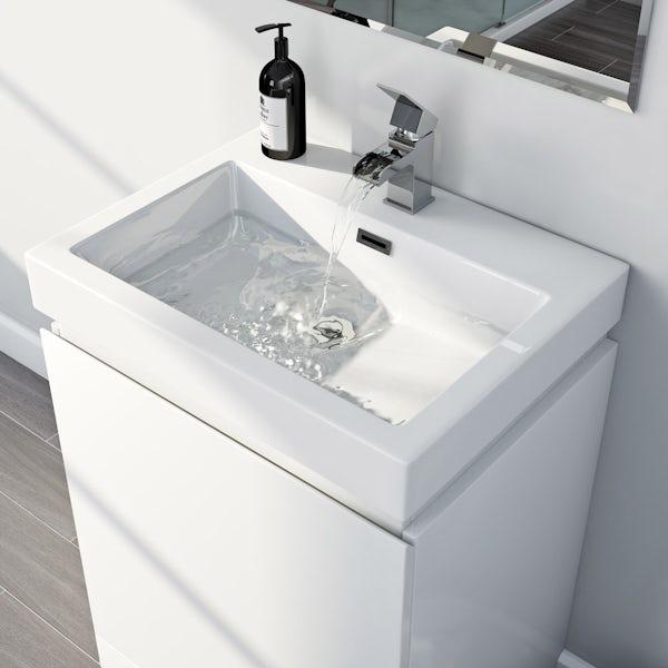 Mode Hardy white floorstanding vanity unit and basin 600mm