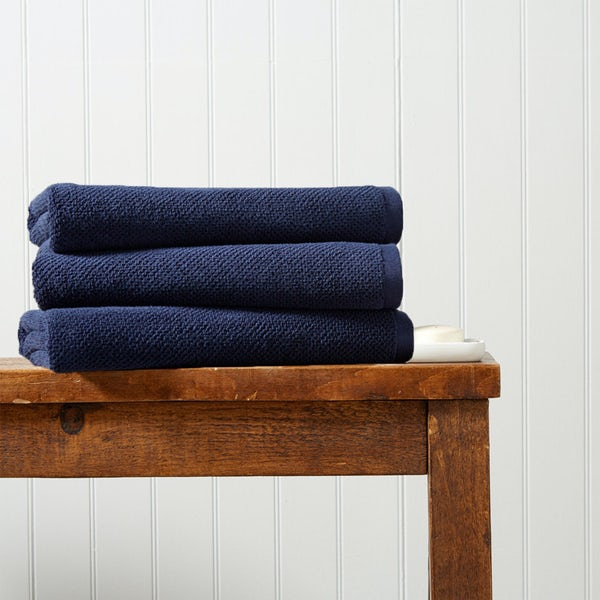 Christy Brixton midnight bath sheet