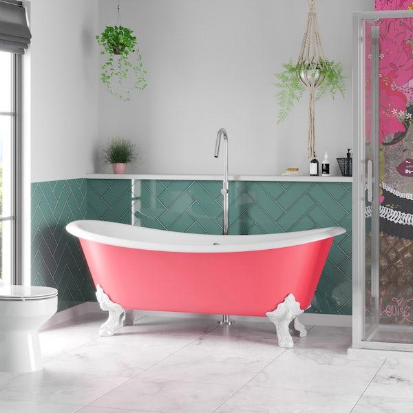 Artist Collection Pucker Up Pink cast iron bath