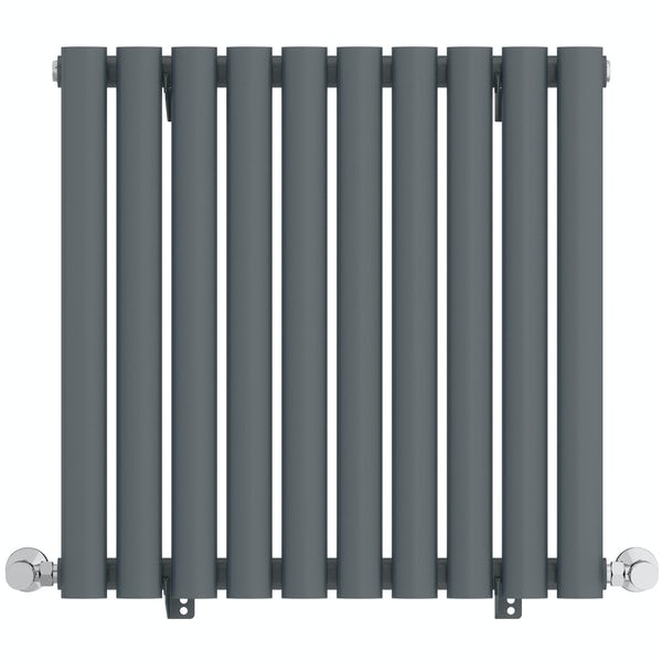 Mode Tate anthracite grey single horizontal radiator