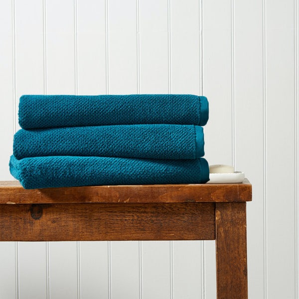 Christy Brixton peacock bath sheet