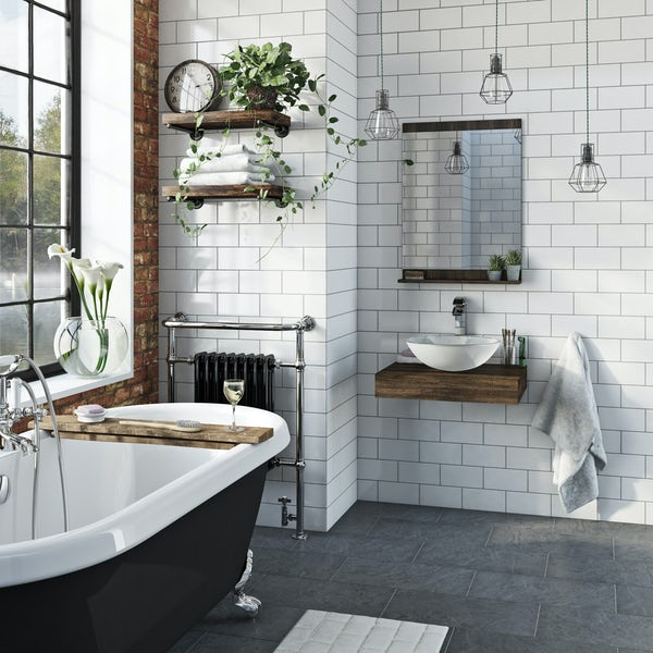 The Bath Co. Dalston countertop with Mackintosh white basin, tap & waste