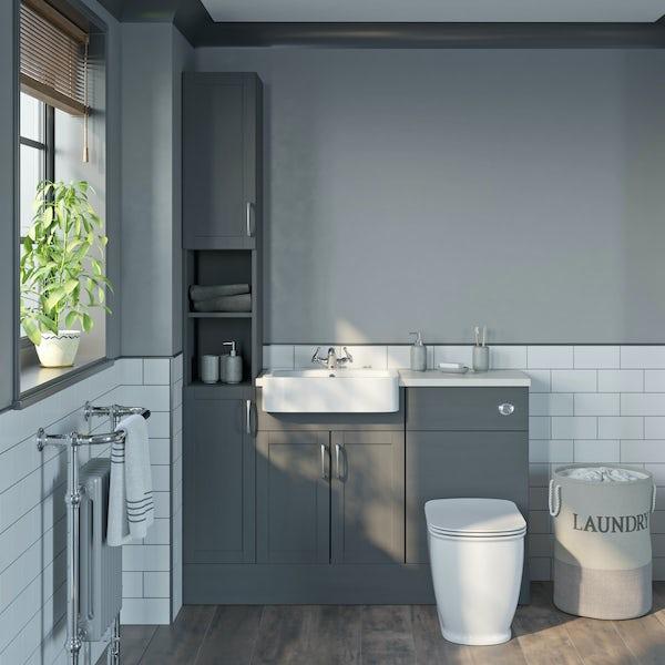 The Bath Co. Newbury dusk grey vanity unit 600mm
