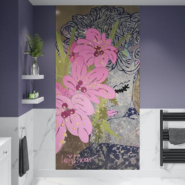 Louise Dear Love Affair acrylic shower wall panel 2400 x 1220mm