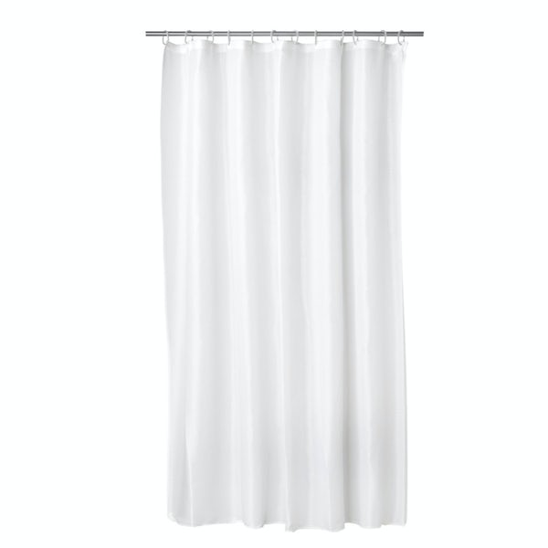 Croydex plain white PVC shower curtain