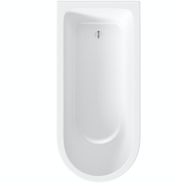 The Bath Co. Dulwich freestanding shower bath with 8mm black framed shower screen