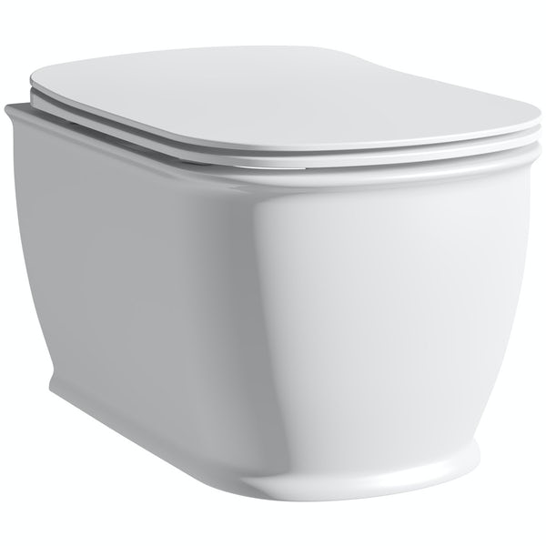 The Bath Co. Beaumont wall hung toilet with soft close seat