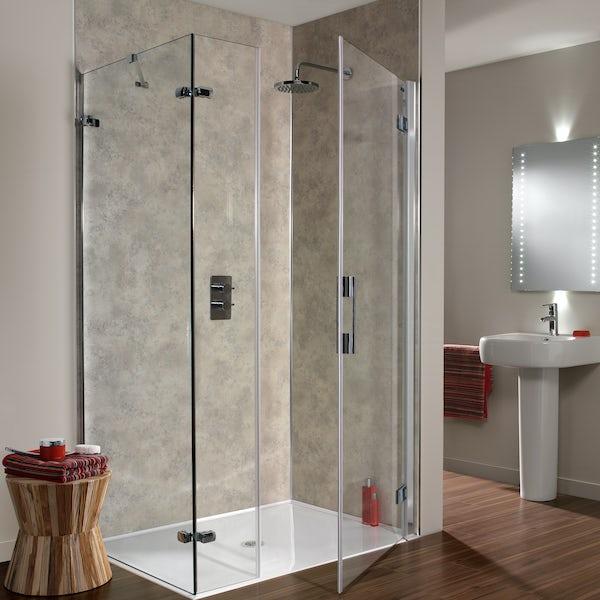 Showerwall Moon Dust waterproof shower wall panel