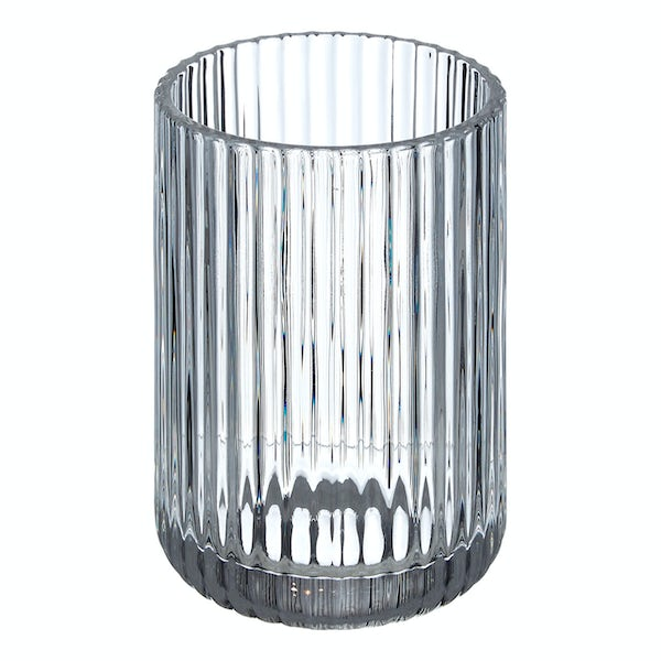 Accents Brittany clear ribbed glass tumbler
