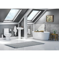 Main image for Orchard Balance complete freestanding bath suite with taps and wastes