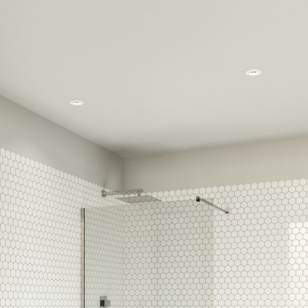 Forum adjustable fire rated bathroom downlight in white