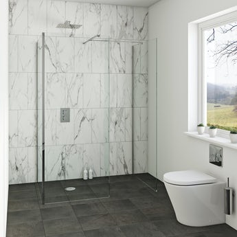 Orchard 8mm wet room 3 sided enclosure glass panel pack