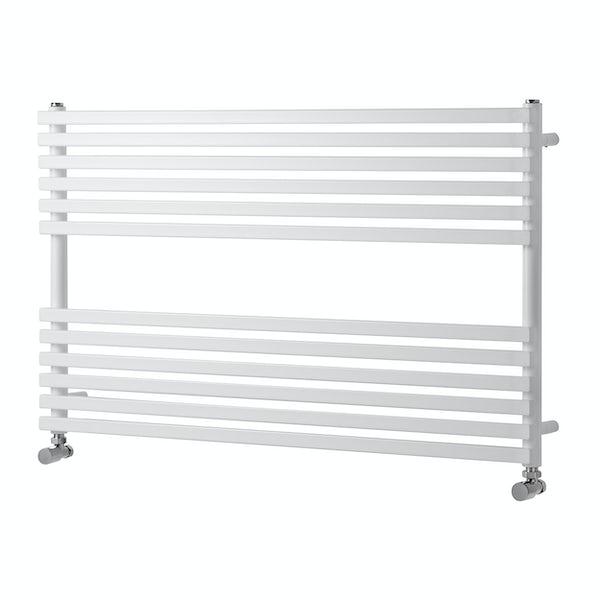 The Heating Co. Rodos white heated towel rail 600 x 1000