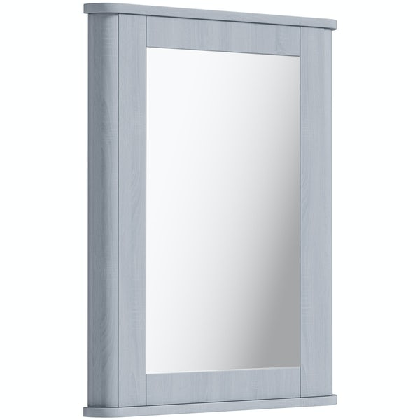 The Bath Co. Beaumont powder blue mirror 780 x 490mm