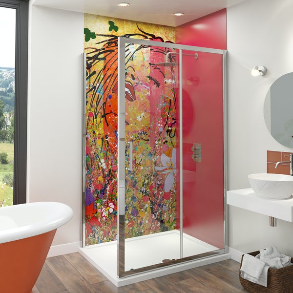 Artist Collection Lippy Red acrylic shower wall panel 2440 x 900mm