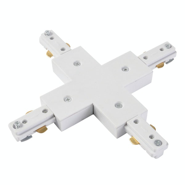 Forum Lyra 240V white single circuit track X-live connector