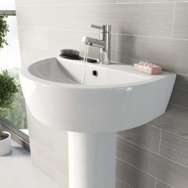 Mode Tate 1 tap hole full pedestal basin 550mm