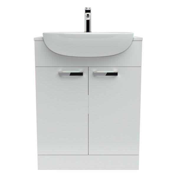 Ideal standard tesi white vanity door unit and basin for Tesi design ideal standard