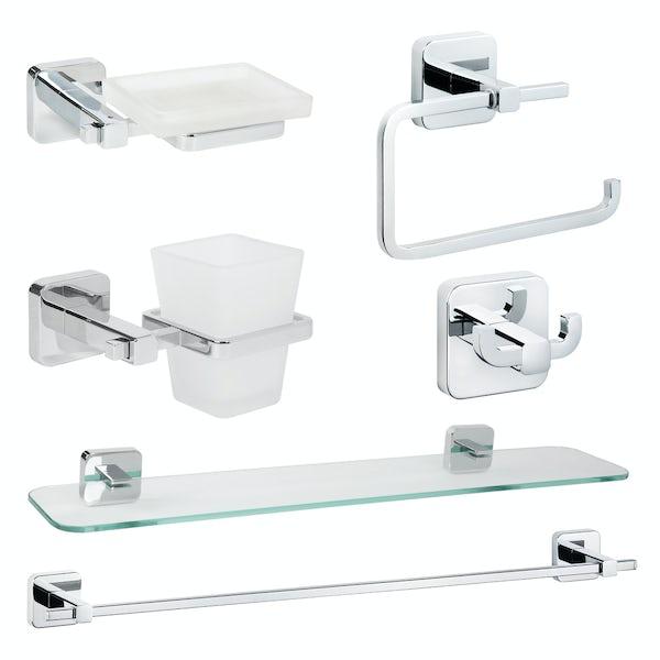 Croydex Camberwell master bathroom 6 piece accessory set