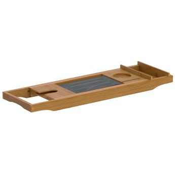 Accents Bamboo adjustable bath caddy