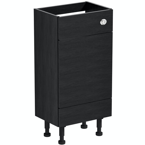 Reeves Nouvel quadro black back to wall toilet unit 500mm