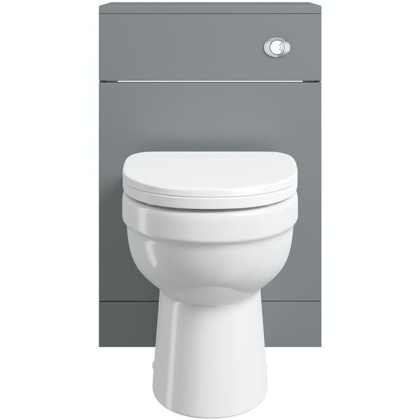 Orchard Elsdon stone grey back to wall unit with Eden toilet & soft close seat