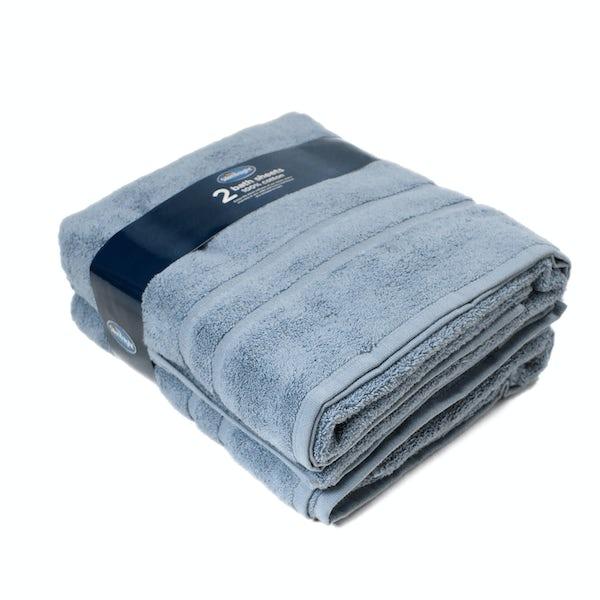 Silentnight Set of 2 Blue Bath Sheet