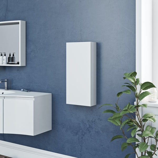 Accents Slimline white wall hung cabinet 650 x 300mm