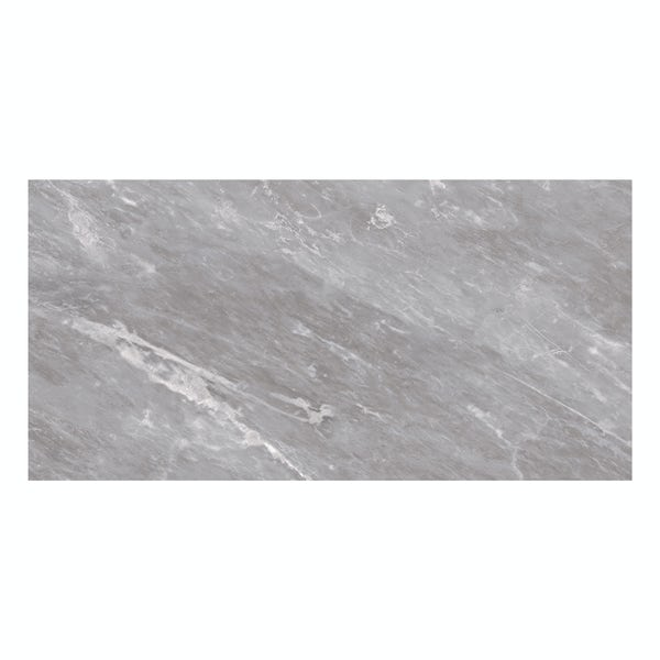 British Ceramic Tile Harmony Marble light grey matt wall tile 248mm x 498mm