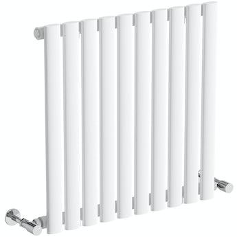 The Heating Co. Salvador white single horizontal radiator