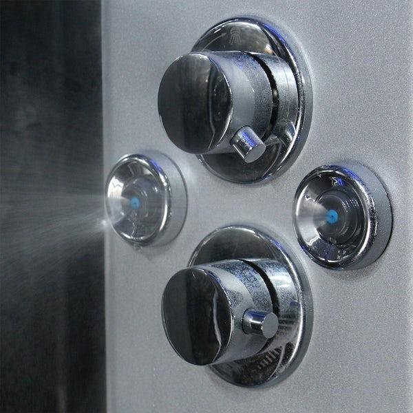 Insignia Premium offset quadrant left handed steam shower cabin