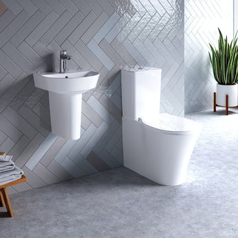 Ideal Standard Concept Air Arc toilet and semi pedestal suite 400mm