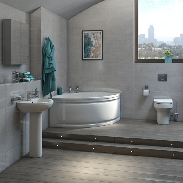 Orchard Wharfe complete corner bath suite