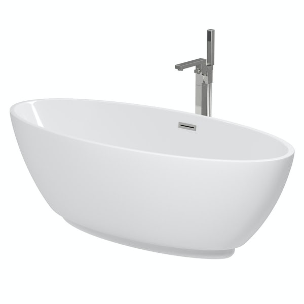 Mode Harrison freestanding bath & tap pack with Ellis bath filler