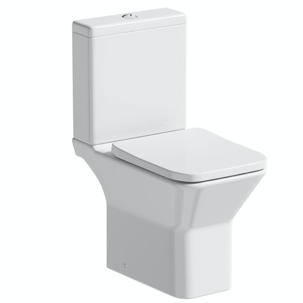 Orchard Derwent square rimless open back close coupled toilet with soft close seat