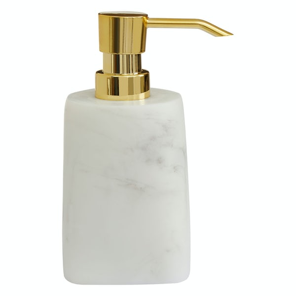 Accents Riviera smooth white marble soap dispenser