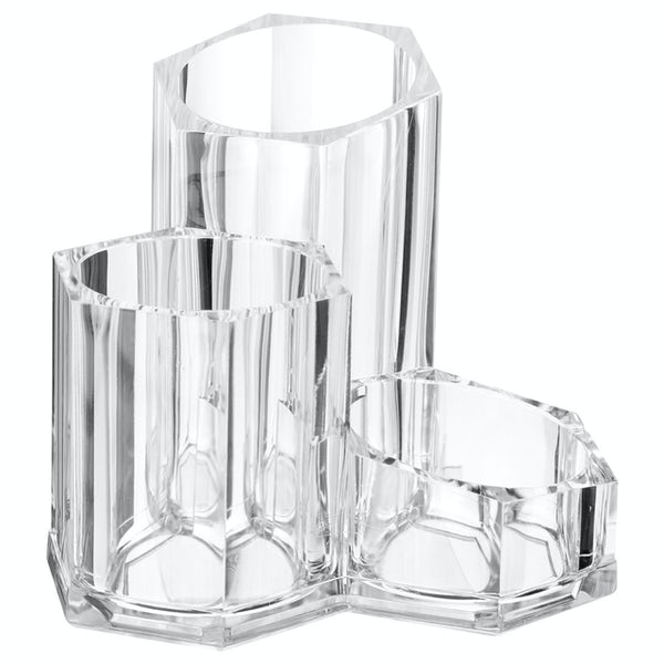 Accents Clear cosmetic organiser with 3 compartments