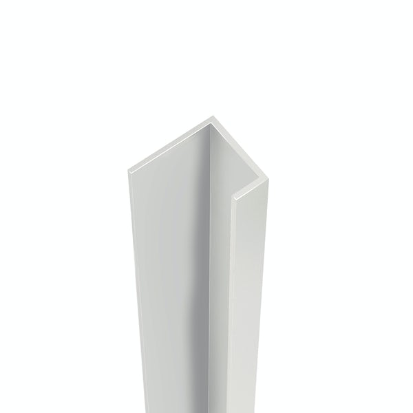Showerwall Bright Silver end cap profile for waterproof wall panels