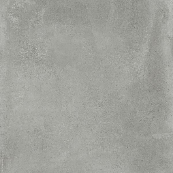 Chard concrete grey flat stone effect matt wall and floor tile 750mm x 750mm