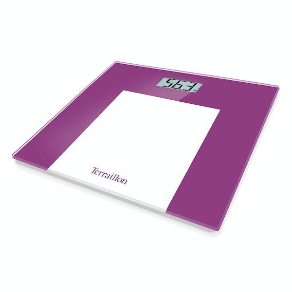 Terraillon TP1000 Borders purple LCD bathroom scale