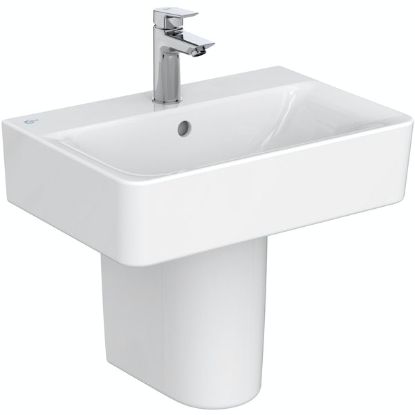 Ideal Standard Concept Space cube 1 tap hole semi pedestal basin 550mm