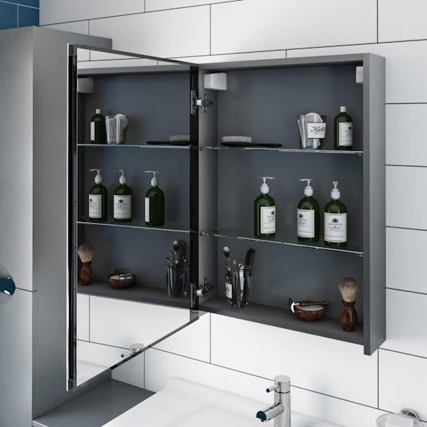 Orchard Elsdon grey mirror cabinet 500 x 700mm
