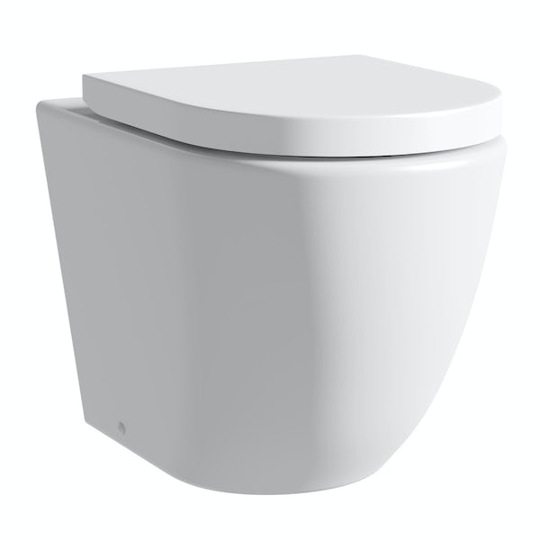 Harrison back to wall toilet inc soft close seat