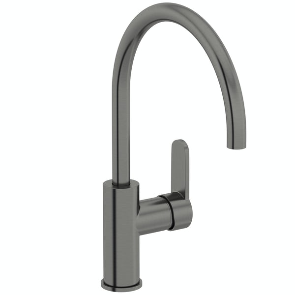 Schön Aaron C spout gun metal kitchen mixer tap