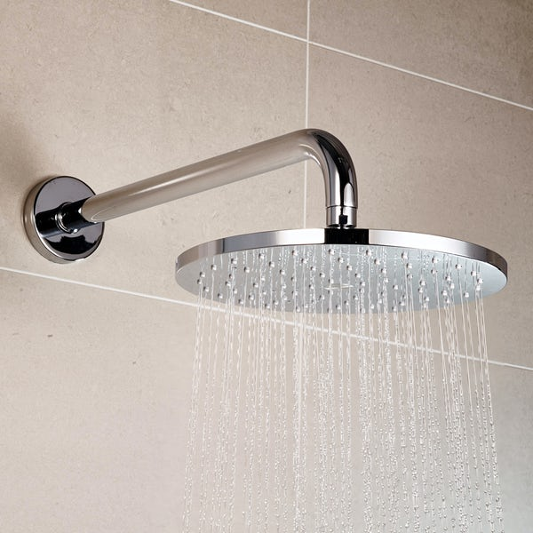 Aqualisa Q concealed digital shower standard with slider rail and wall arm