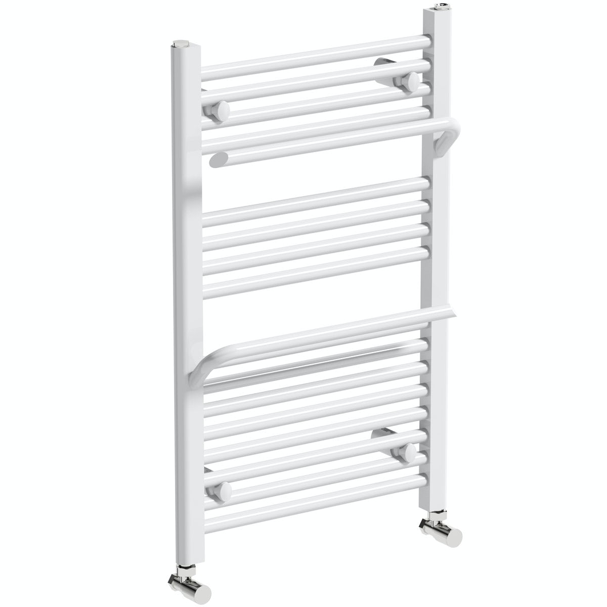 Mode Rohe white heated towel rail with hangers 800 x 500