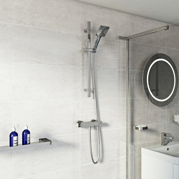 Mode Water saving square sliding shower rail kit
