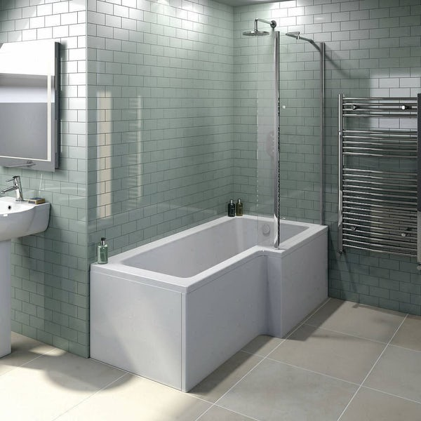 Orchard 6mm L shaped shower bath screen